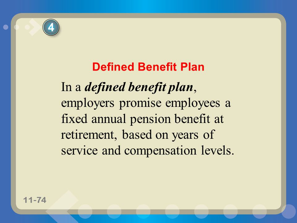 4 Defined Benefit Plan.