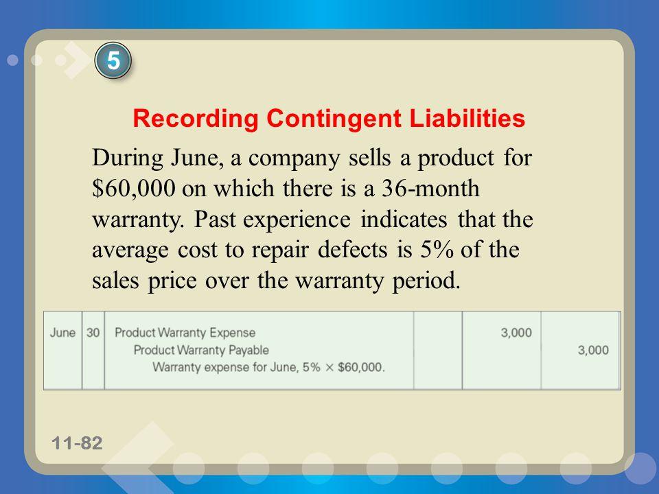Recording Contingent Liabilities