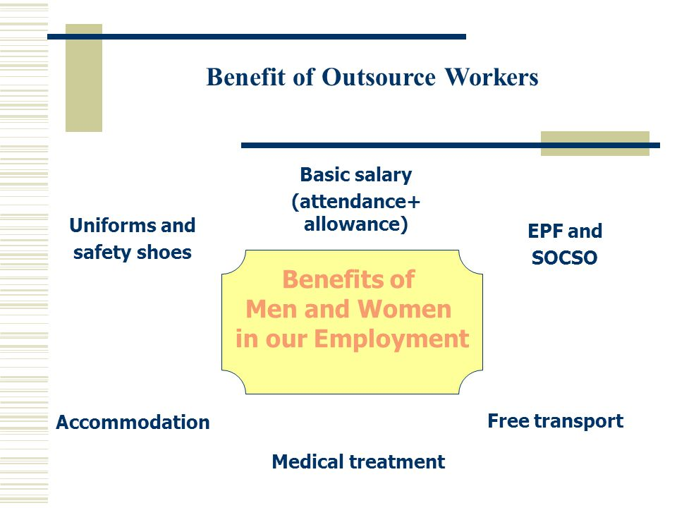 Benefit of Outsource Workers (attendance+ allowance)