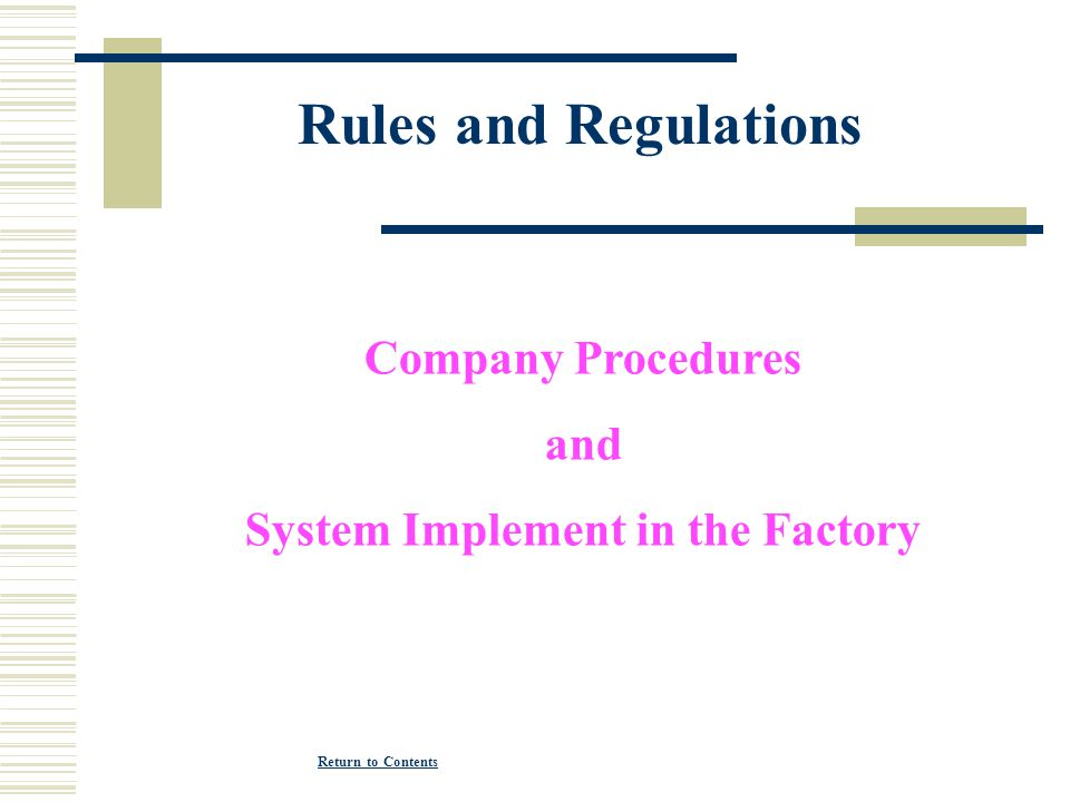 System Implement in the Factory