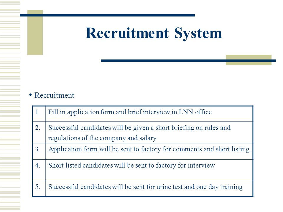 Recruitment System Recruitment 1.