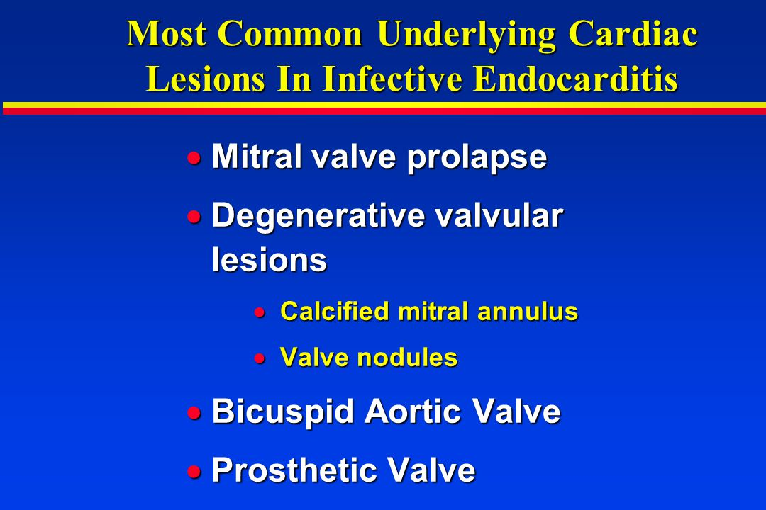 Most Common Underlying Cardiac Lesions In Infective Endocarditis