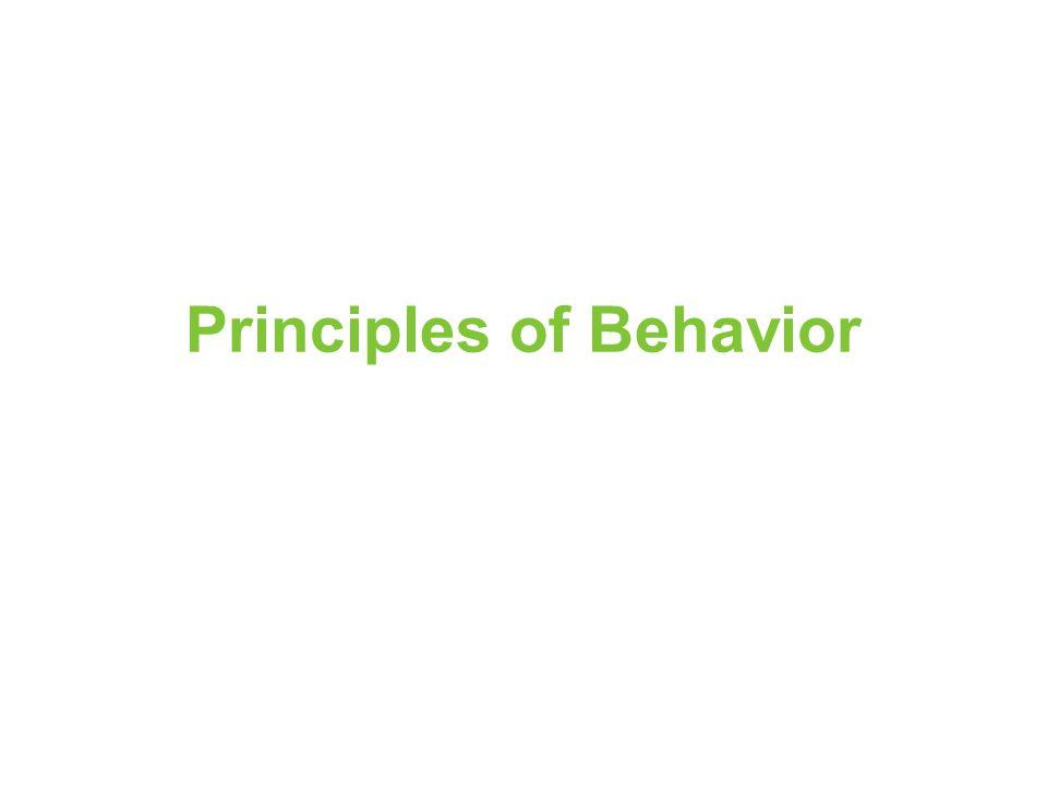 Principles of Behavior