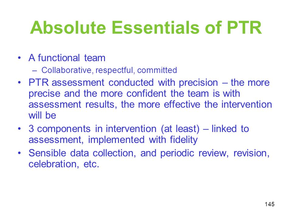 Absolute Essentials of PTR
