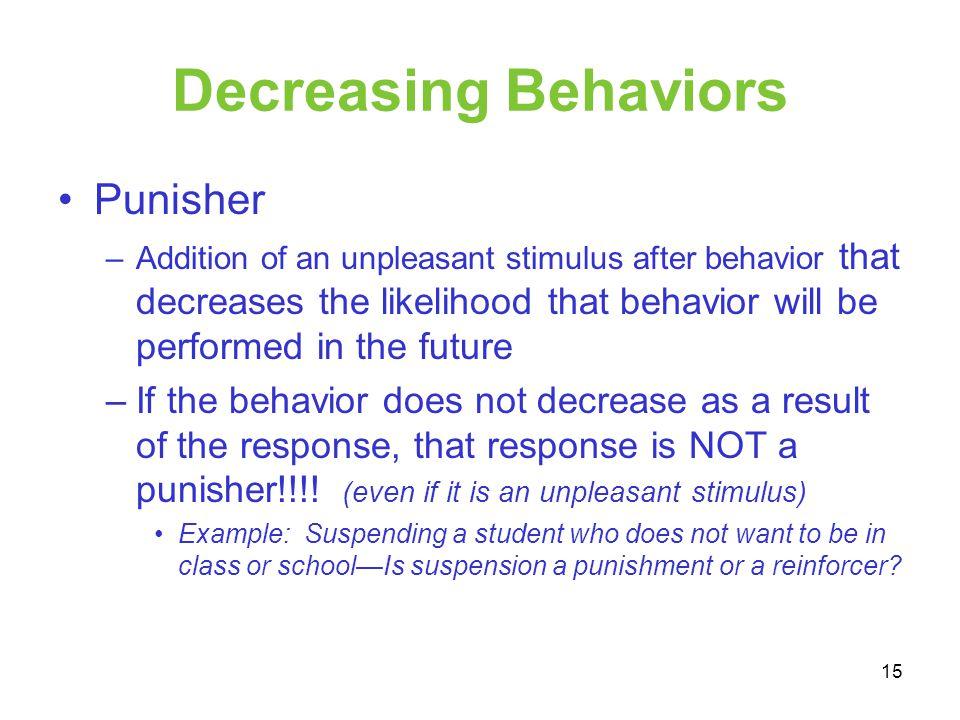 Decreasing Behaviors Punisher
