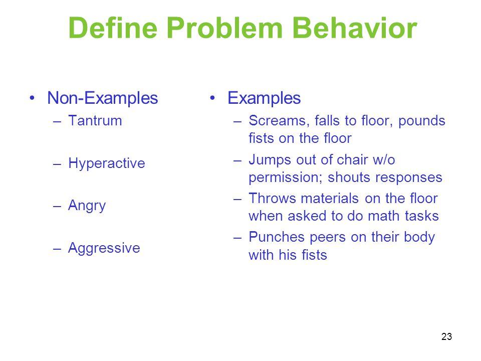 Define Problem Behavior
