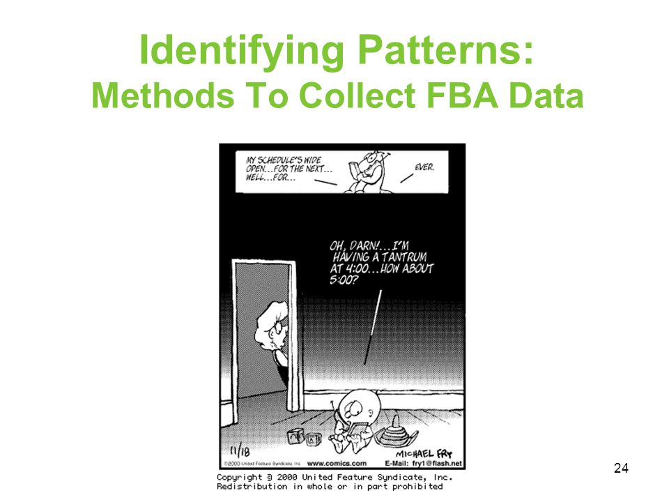 Identifying Patterns: Methods To Collect FBA Data
