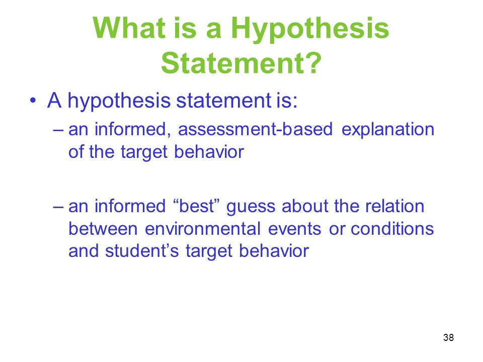 What is a Hypothesis Statement
