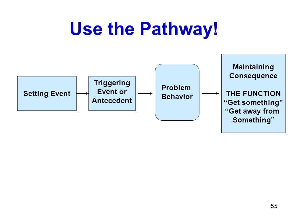 Use the Pathway! Maintaining Consequence THE FUNCTION Problem