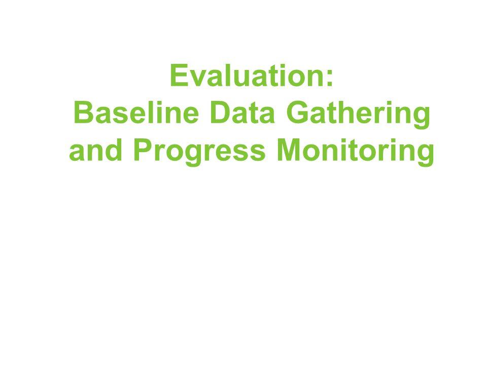 Evaluation: Baseline Data Gathering and Progress Monitoring