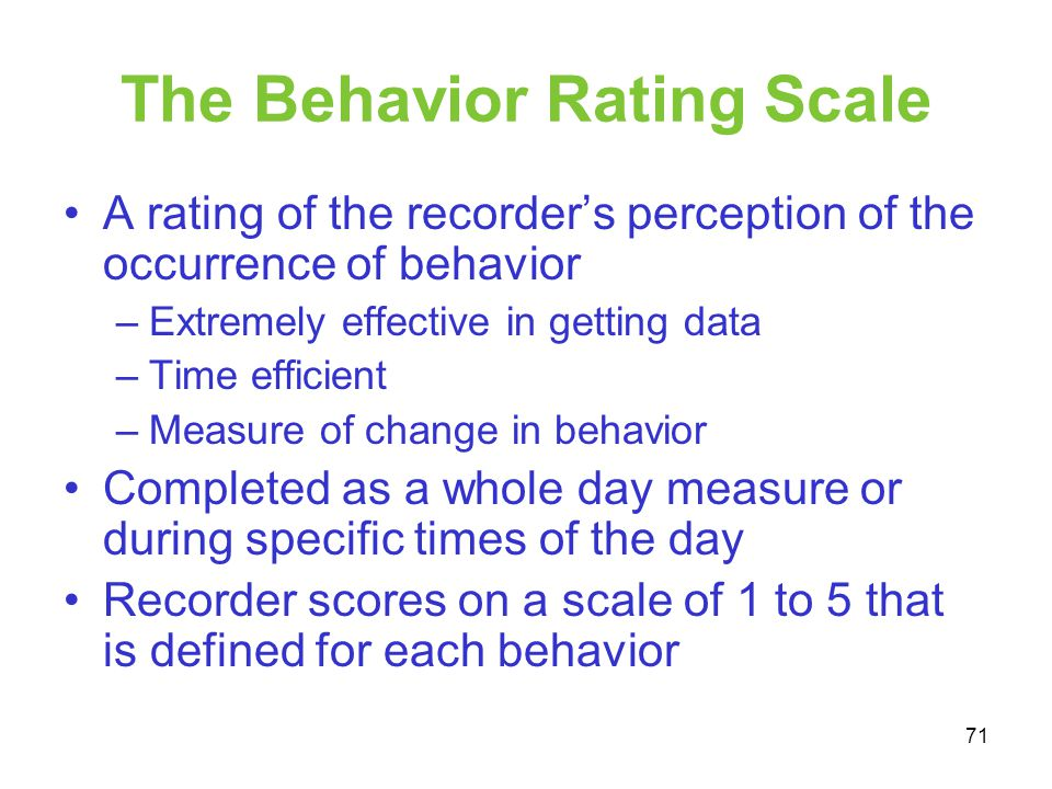 The Behavior Rating Scale
