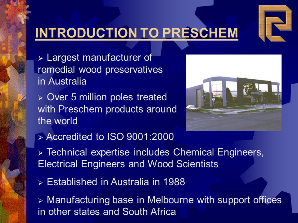 INTRODUCTION TO PRESCHEM