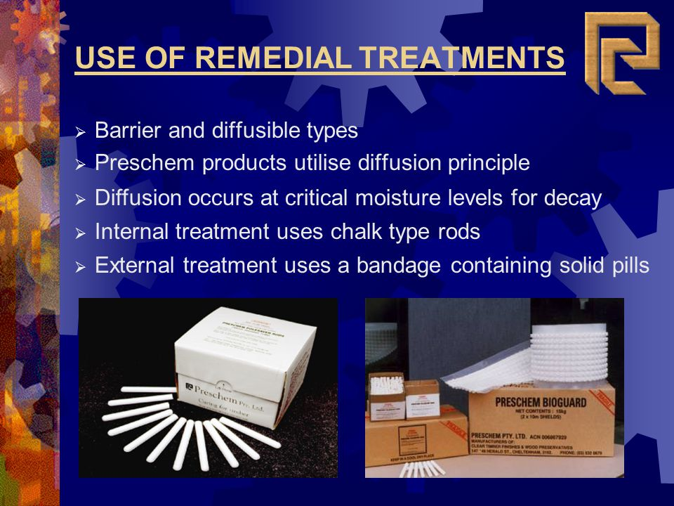 USE OF REMEDIAL TREATMENTS