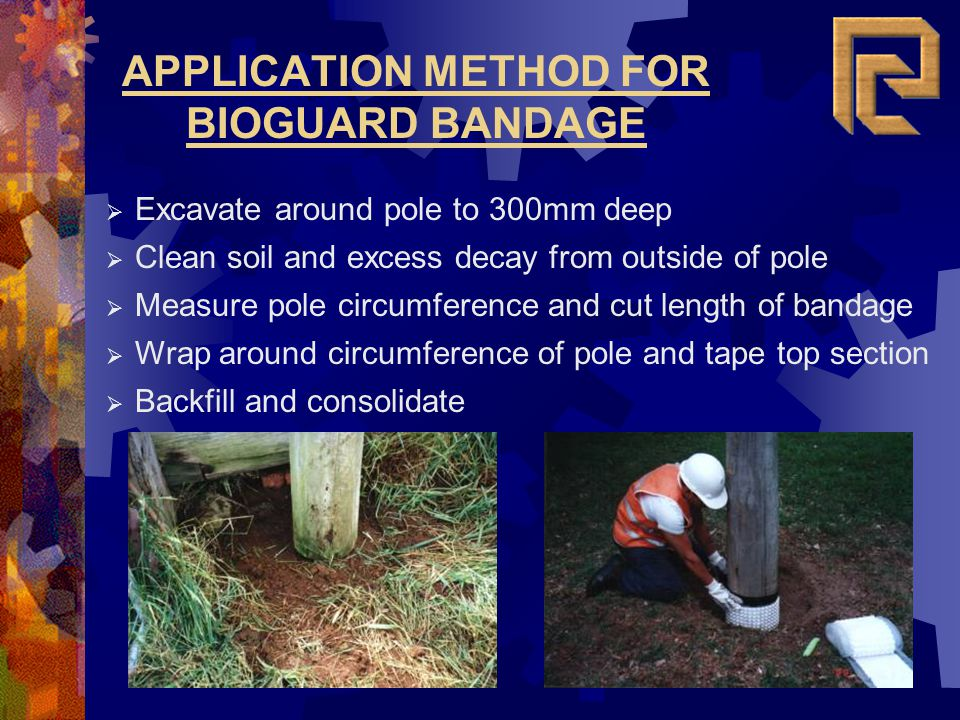 APPLICATION METHOD FOR BIOGUARD BANDAGE