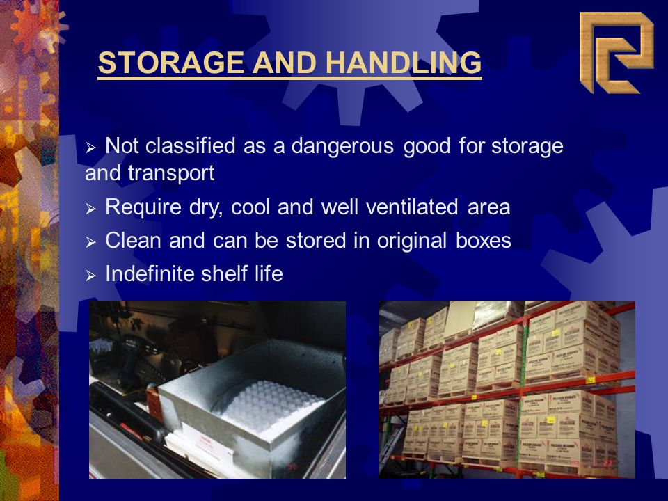 Not classified as a dangerous good for storage and transport