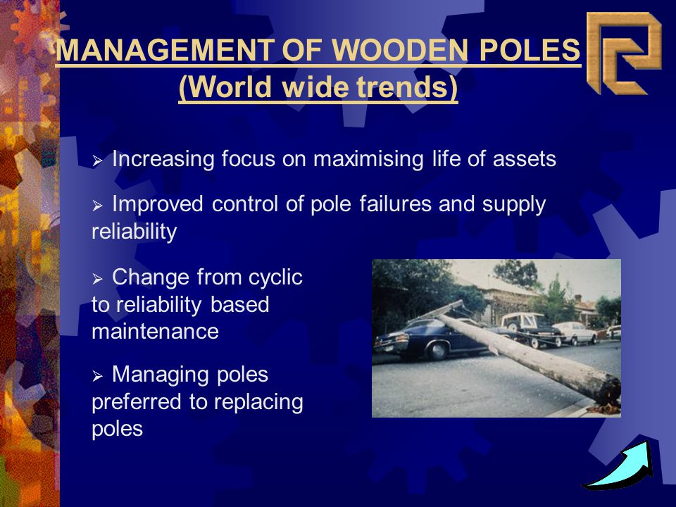 MANAGEMENT OF WOODEN POLES (World wide trends)
