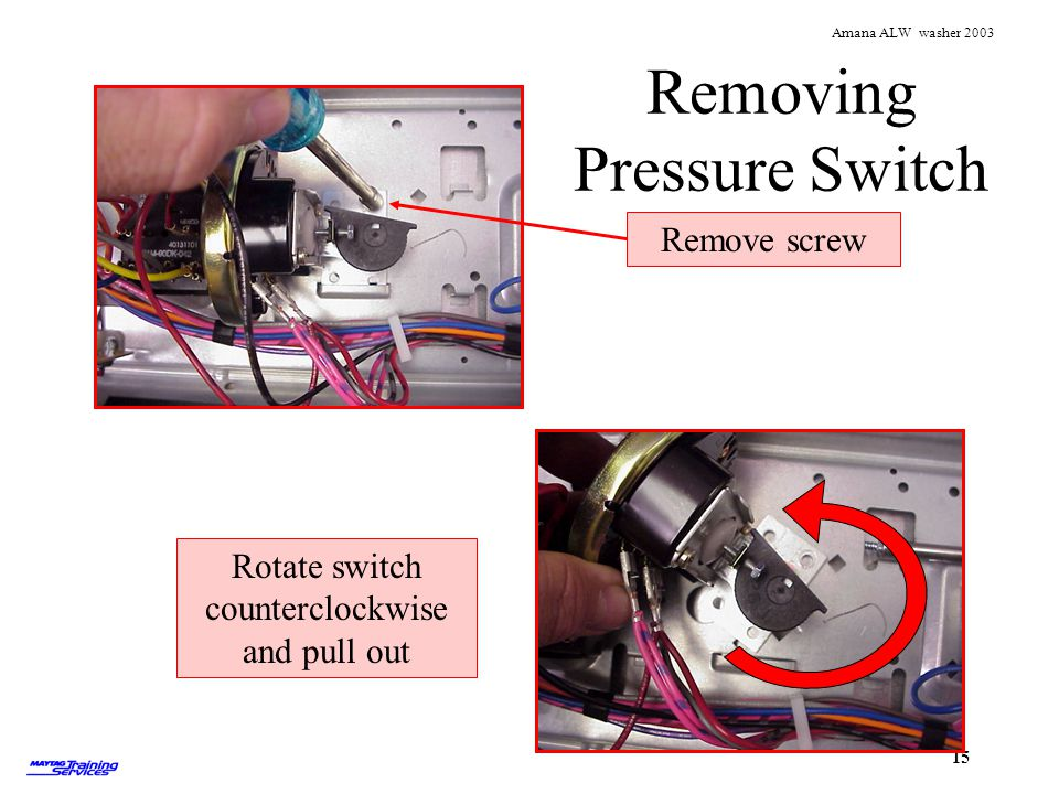 Removing Pressure Switch