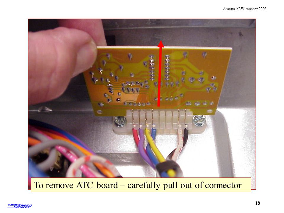 Removing ATC To remove ATC board – carefully pull out of connector