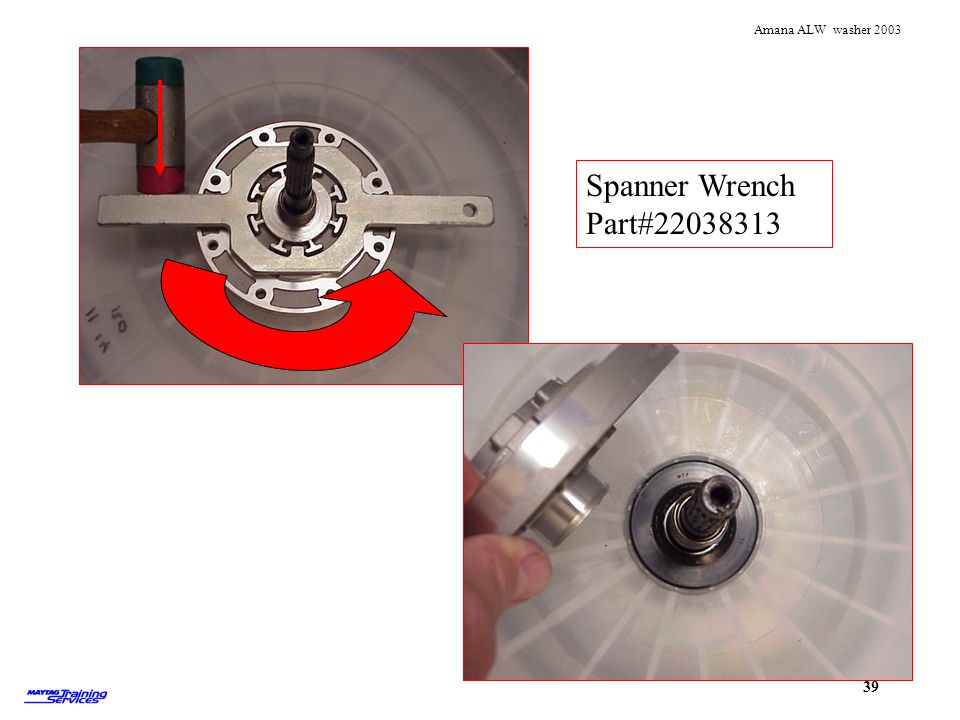 Spanner Wrench Part#22038313 Use the spanner wrench to remove the seal hub