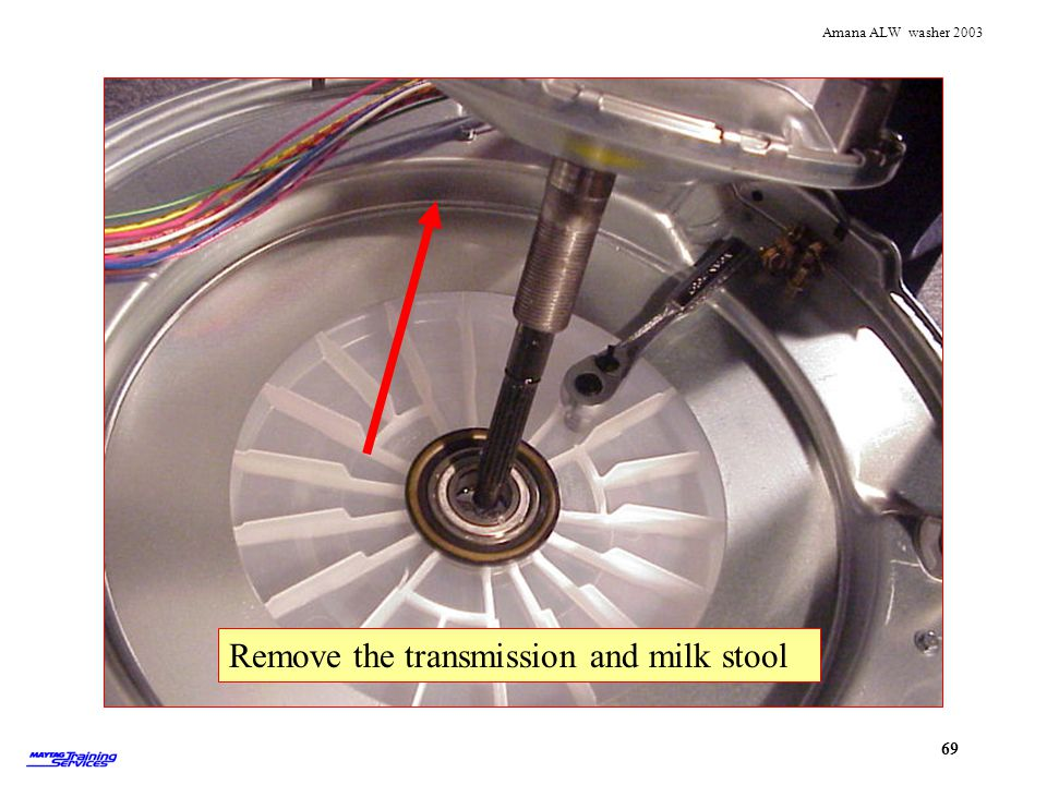 Removing transmission and milk stool