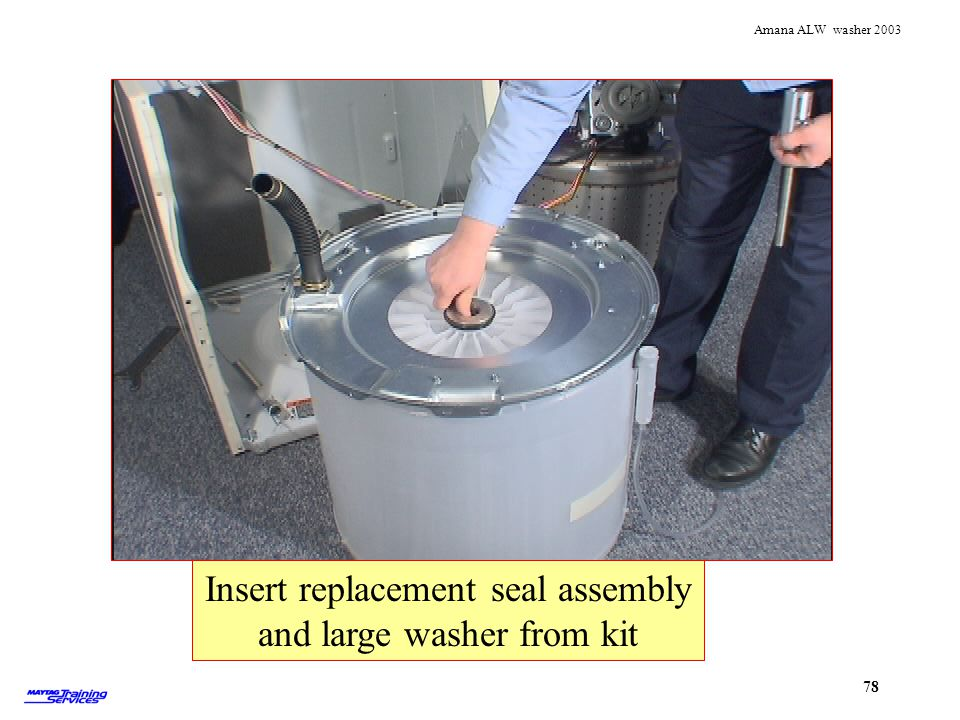 Insert replacement seal assembly and large washer from kit