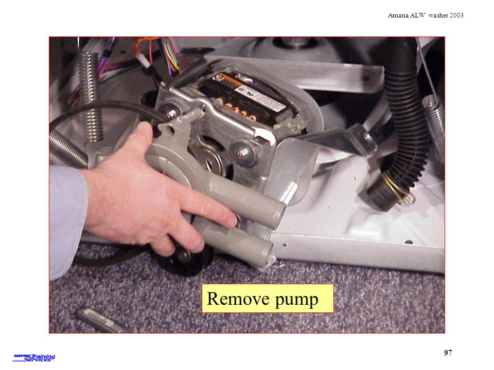 Pulling pump off Remove pump Remove pump