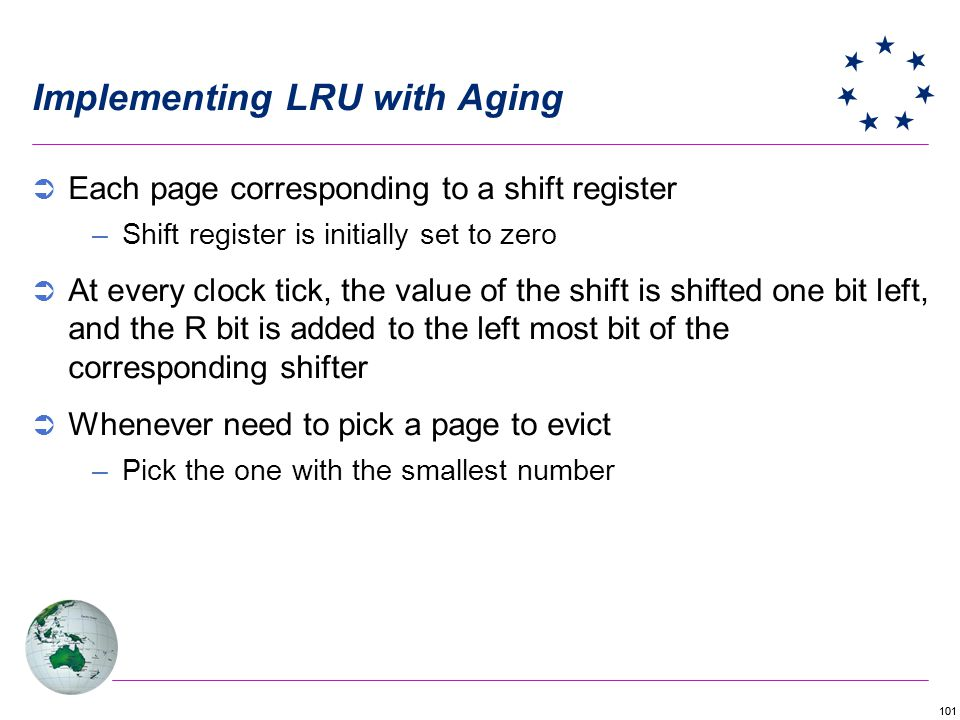 Implementing LRU with Aging