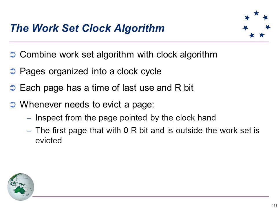 The Work Set Clock Algorithm