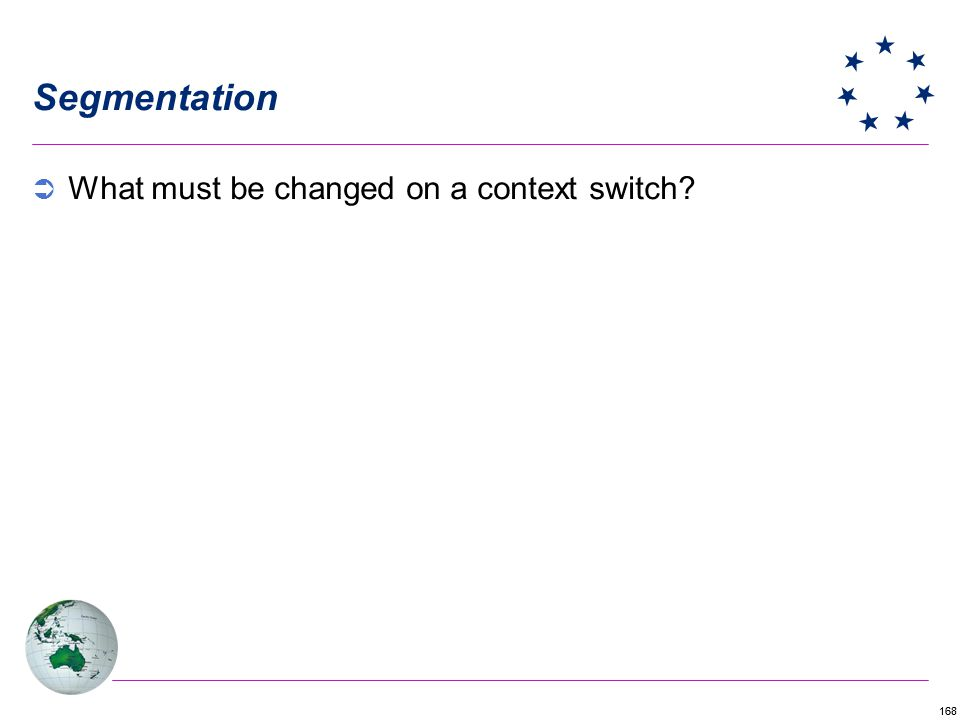 Segmentation What must be changed on a context switch