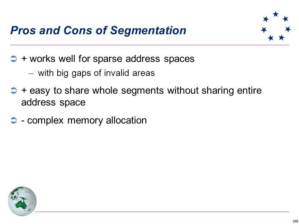 Pros and Cons of Segmentation
