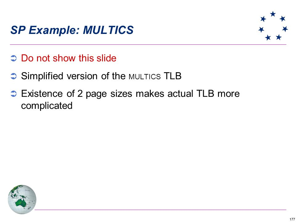 SP Example: MULTICS Do not show this slide