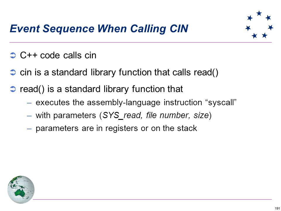 Event Sequence When Calling CIN