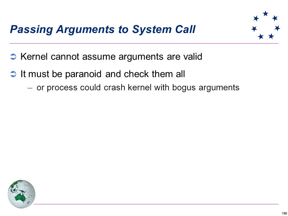 Passing Arguments to System Call