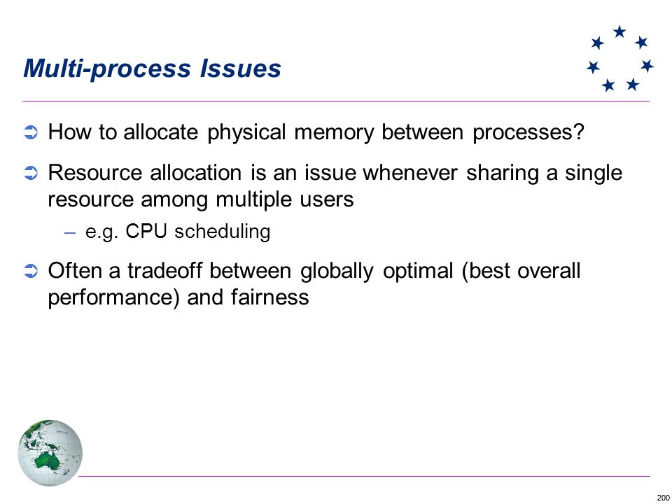Multi-process Issues How to allocate physical memory between processes