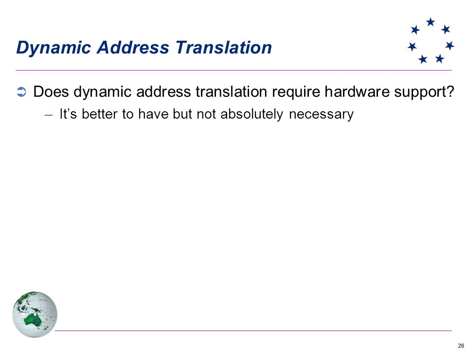 Dynamic Address Translation