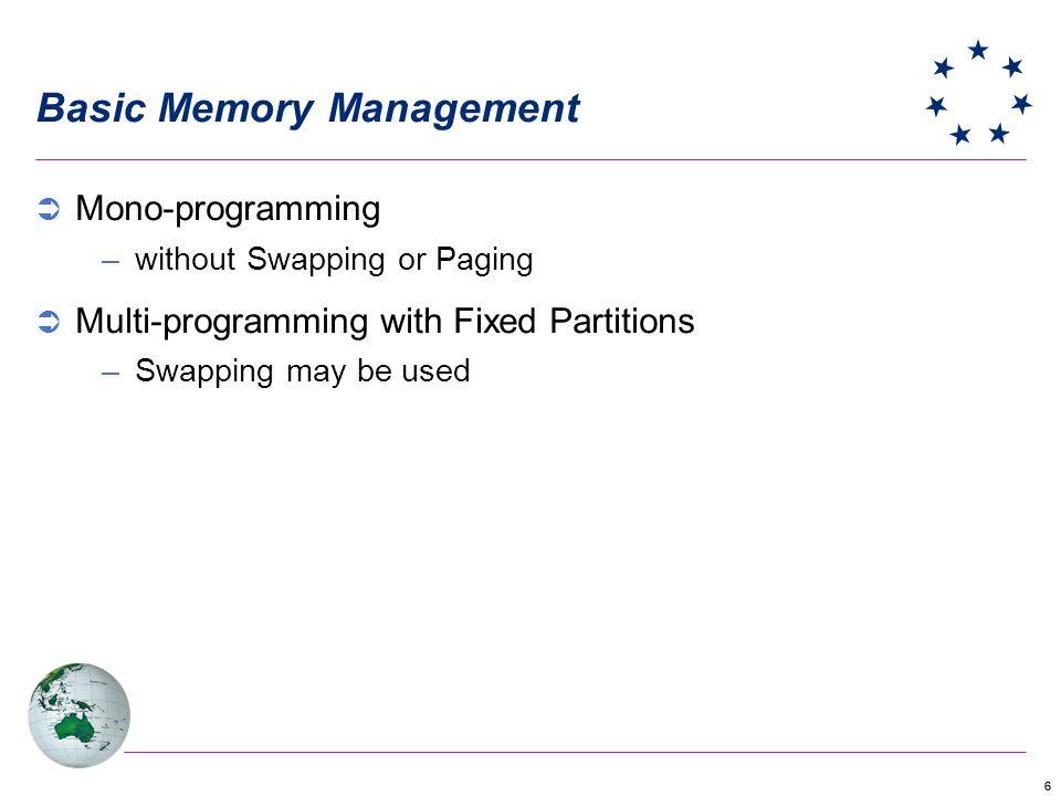 Basic Memory Management