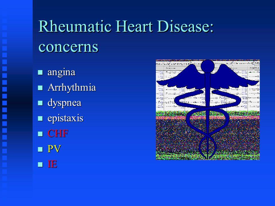 Rheumatic Heart Disease: concerns