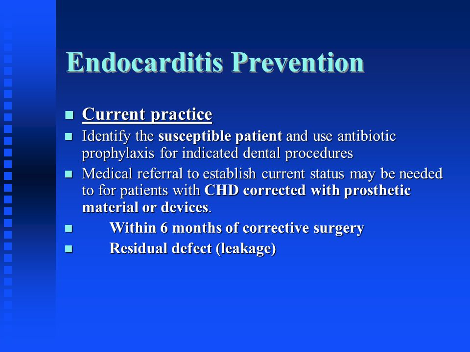 Endocarditis Prevention
