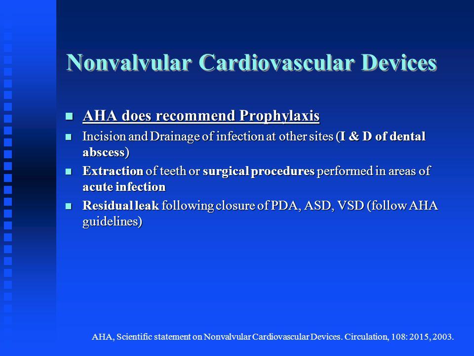 Nonvalvular Cardiovascular Devices