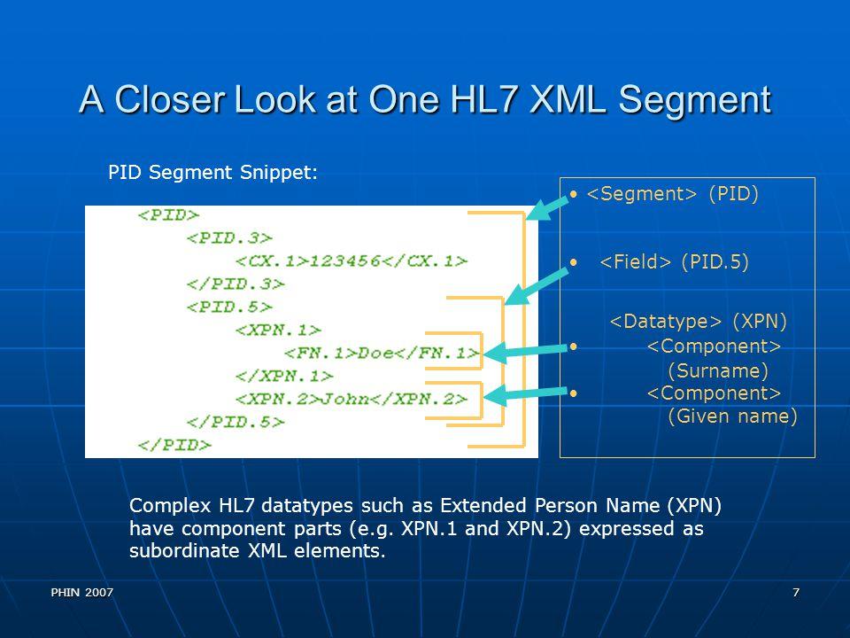 A Closer Look at One HL7 XML Segment
