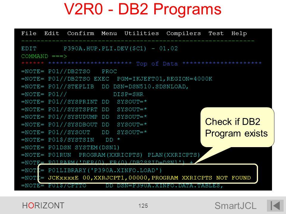 V2R0 - DB2 Programs Check if DB2 Program exists
