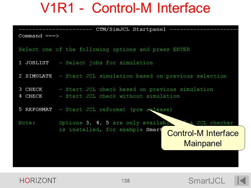 V1R1 - Control-M Interface