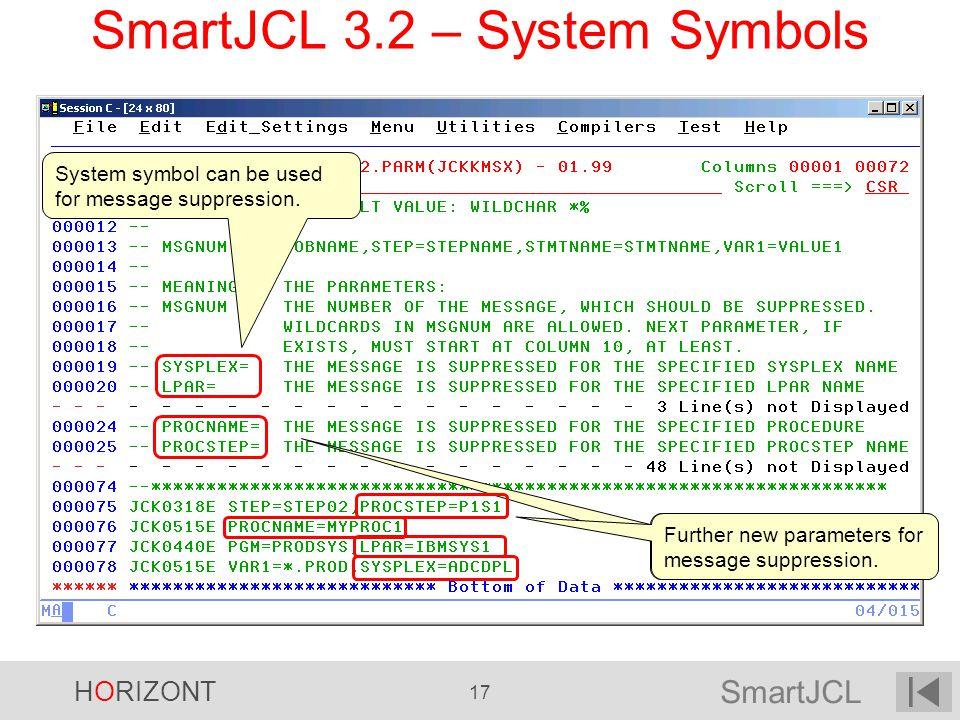SmartJCL 3.2 – System Symbols