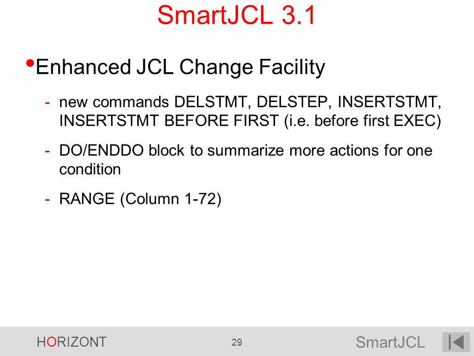 SmartJCL 3.1 Enhanced JCL Change Facility