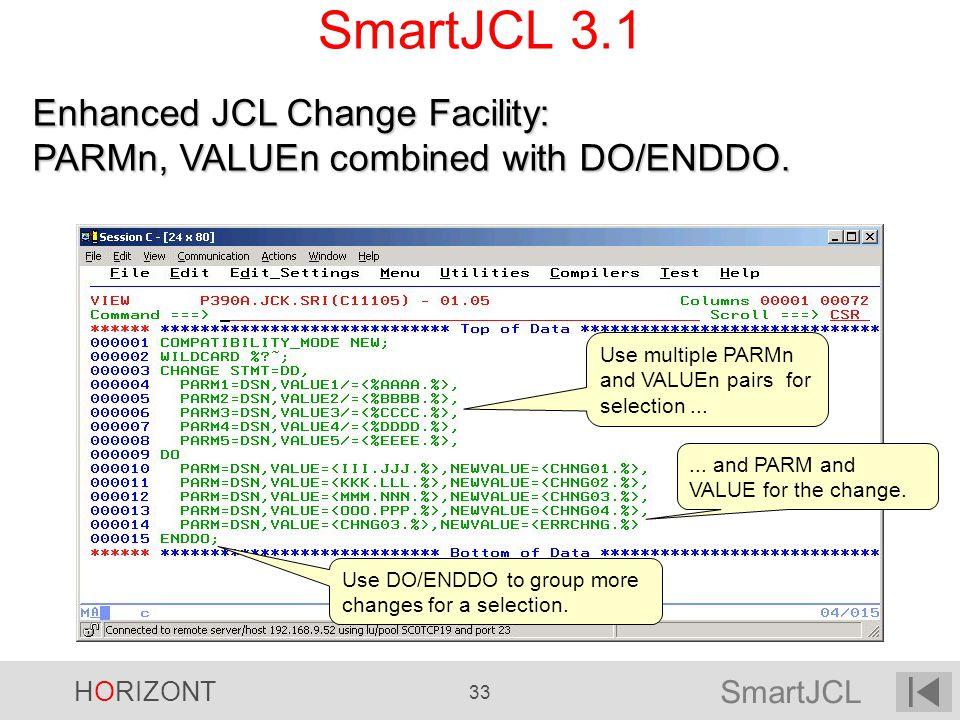 SmartJCL 3.1 Enhanced JCL Change Facility: