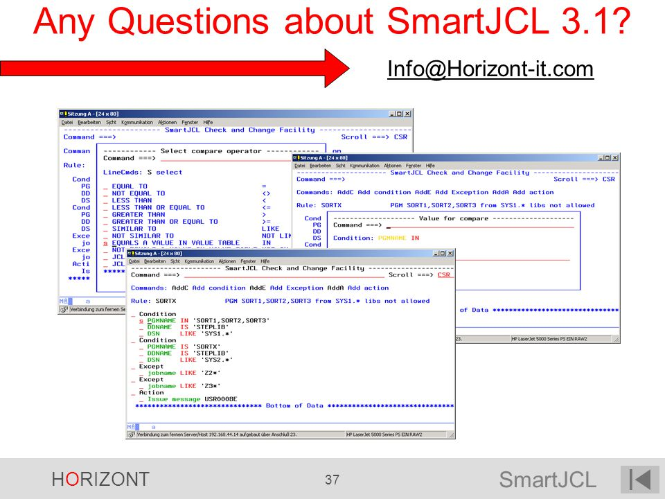 Any Questions about SmartJCL 3.1