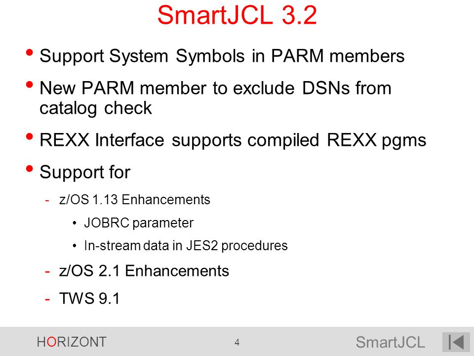 SmartJCL 3.2 Support System Symbols in PARM members