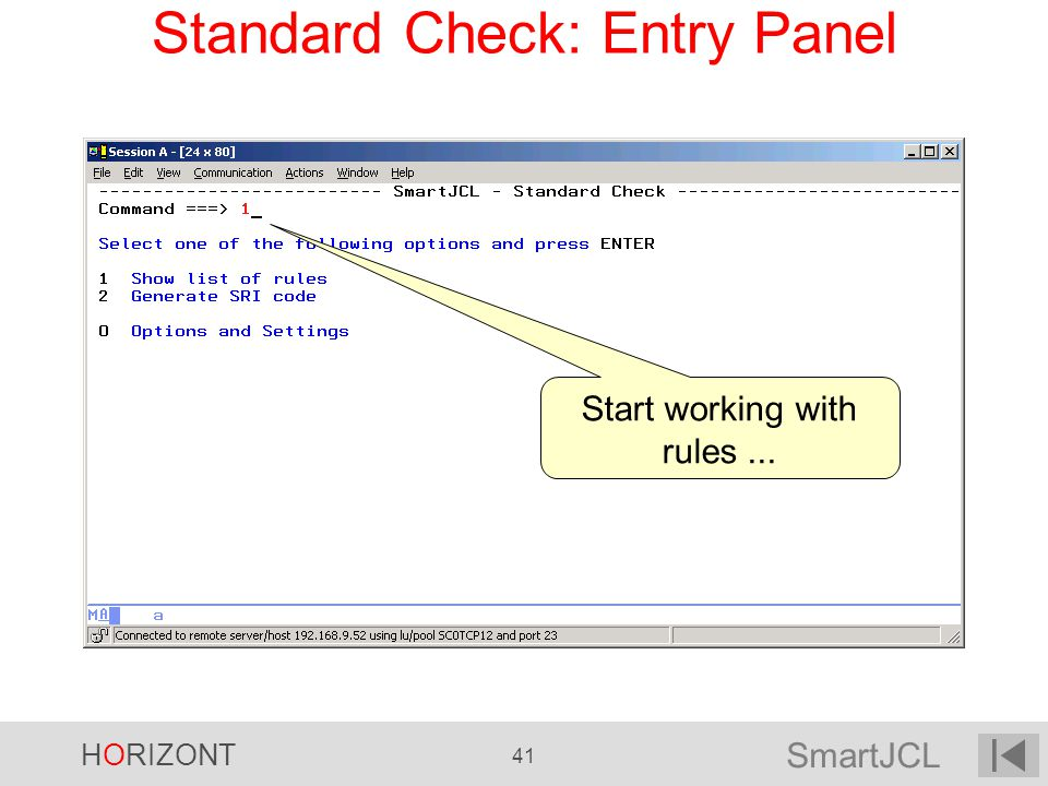Standard Check: Entry Panel