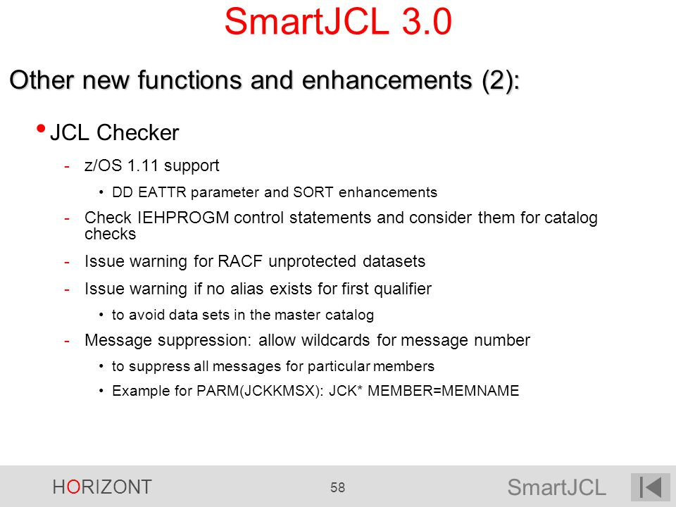 SmartJCL 3.0 Other new functions and enhancements (2): JCL Checker