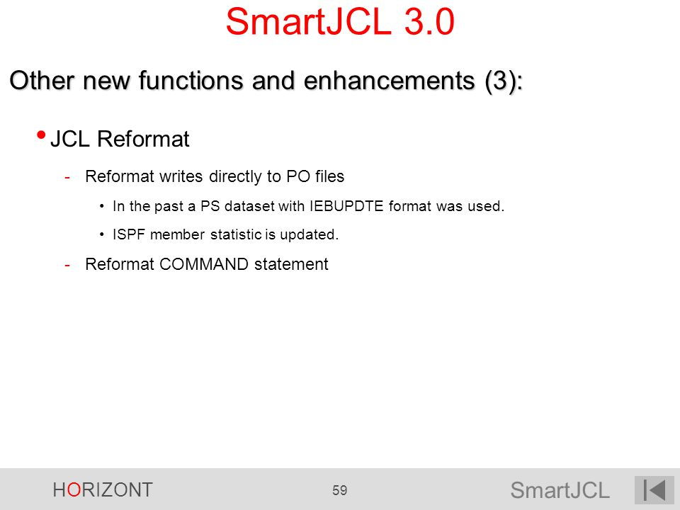 SmartJCL 3.0 Other new functions and enhancements (3): JCL Reformat